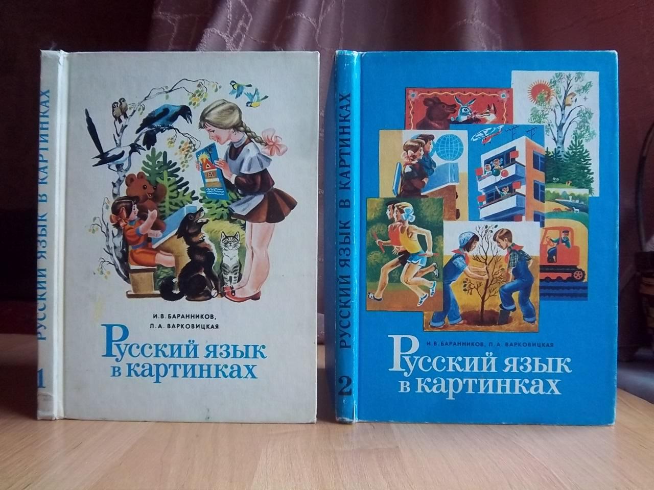 Русский язык в картинках В двух частях
